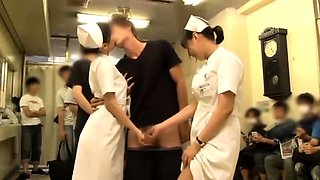 Horny Japanese nurses get their hungry pussies fucked hard