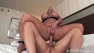 Stunning Alura Jenson bouncing on a dick in sexy high heels