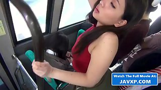 Asian teen fucked on the public bus (japan)