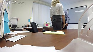 Hidden camera sex video featuring office whore Cory Chase