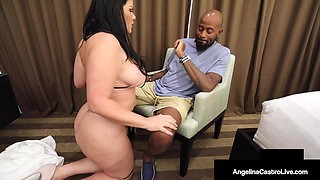 Nut Busting Cuban BBW Angelina Castro Milks A Big Black Cock