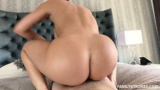 19 yo hormone licks and fucks stepmom's pussy in front of sleeping daddy