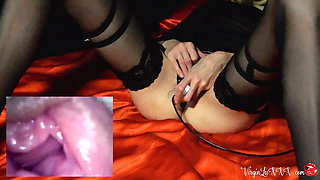 Babe Sensual Masturbate Pussy Endoscope Camera - Female