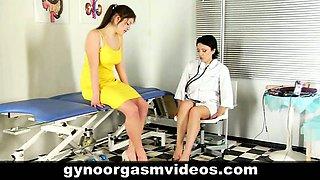 Doctor helps patient in reaching orgasm