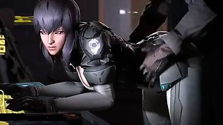 ghost in the shell motoko hot fuck compilation