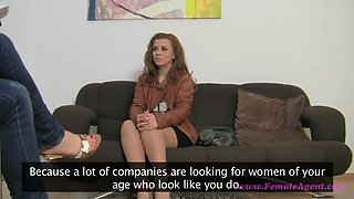 Cute babe Geena gets on her first porn interview