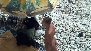 TheBeachWatch 12 Beach nudist anal dildo play
