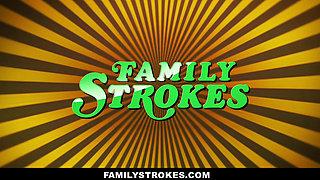 FamilyStrokes- Hot Asian Teen Fucks StepDad