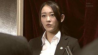 Group fuck with alluring brunette sex slave Sho Nishino