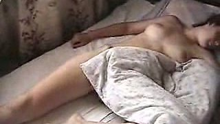 Homemade video of my pale skin Turkish sleeping princess