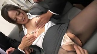 Horny Japanese chick Minami Asano in Amazing Panties, Stockings/Pansuto JAV video
