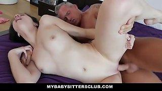Goldigging Babysitter Gets Cock Filled Payment - Cadey Mercury