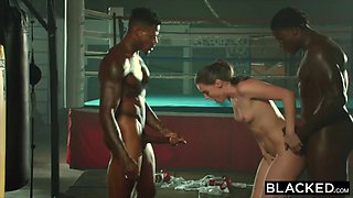 Blacked tori black is oiled up and dominated by two bbcs