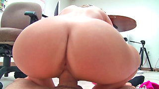 Hot 18 year old intern and her boss on the floor