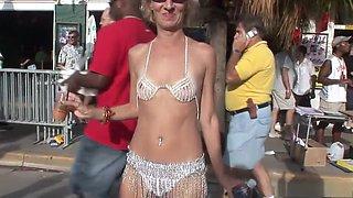 Amazing pornstar in crazy striptease, blonde porn clip