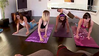Teens stroking big cock and spanish creampie Hot Sneaky Yoga