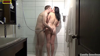 Hotel Shower Sex With Hot Busty Mom