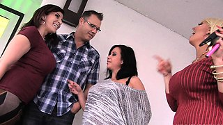 Alura Jenson Sara Jay Kimmy Lee in foursome