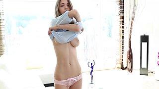 [TD] 2017-12-29 Mila Azul in her sheer pink under panties