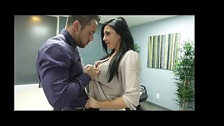 Audrey Bitoni letting her co-worker suck her big tits