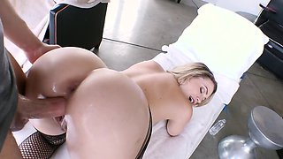 She loves choking on a big piece of meat and getting banged from the behind