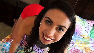 Sexy mexican teen Seducing My Stepfather