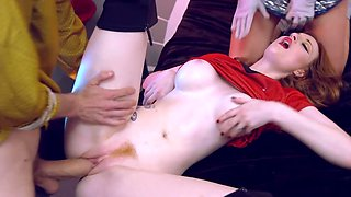 Cuties give hot double and get drilled in Star Trek XXX parody