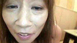 51yr old Shy Granny Nagura acquires Creamed (Uncensored)