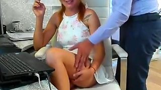 Boss and Secretary have sex in office with facial cum - See more on: www.Joincams.club
