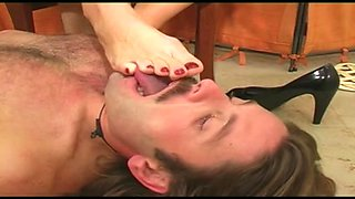 Goddess dominates slave