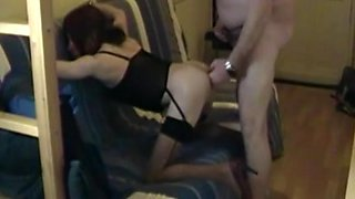 Shaved crossdresser ass fucked
