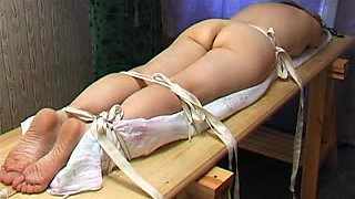 Fat booty babe gets some serious butt caning