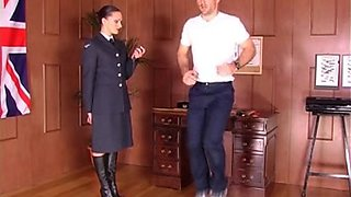 Posh Army Sargaent puts trainee though his paces