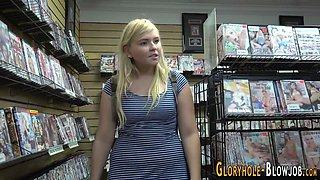 chubby teen at gloryhole extreme