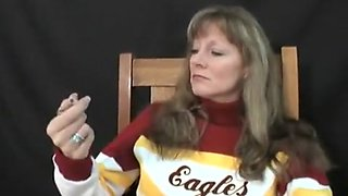Amazing amateur Cheerleaders, Smoking xxx video