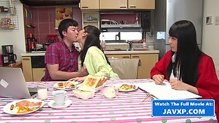 Japanese family afairs. stepmom and son