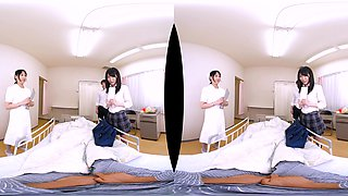 Miyuki Arisaka I Fell in Love with My Old Classmate and Nurse at the Hospital and Came Inside Her! Part 1 - SexLikeReal