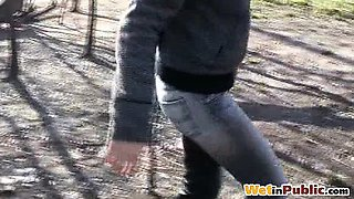 Desperate bus stop pant-wetting accident