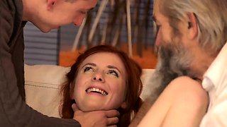Piss rim old and bisexual couple young man first time Unexpe