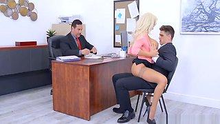 Blonde Milf In The Office