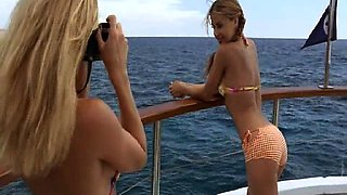 Carmen Electra wearing bikini top as she starts dancing for