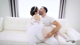Tiny Ballerina Penelope Kay Rides Huge Dick
