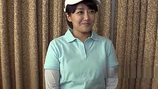 Korean golf chick wants to get her pussy hole in one