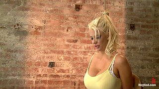 Busty California Blonde Courtney Gets Bent Fucked and Challenged