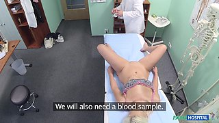 Kinky blonde Jessie Ann always wanted to have sex with a doctor