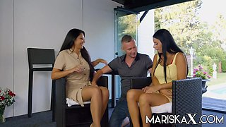 Mariska And Nelly Milk A Hard Cock