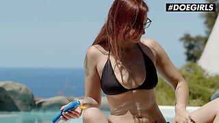 DOEGIRLS - Margout Darko - Spanish Babe Dildo Fucking Hard Near The Pool