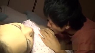 Mature Woman Sucking Young Guy Fucked While Her Husband Sleeping Next To Th