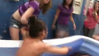 Naked College Girls Mud Wrestling At Hazing Party
