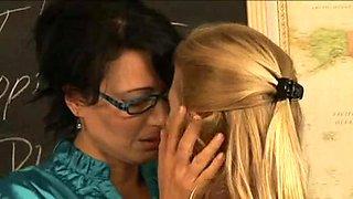 Two MILFs having lesbian fun